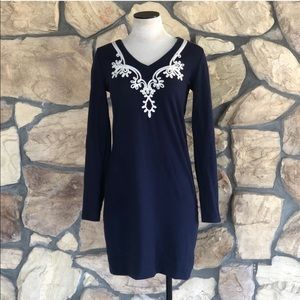 {Lilly Pulitzer} Navy Long Sleeve Dress
